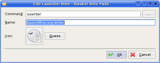 Editing a Launcher Note