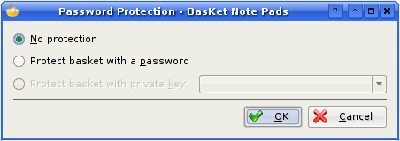 Password Protection Dialog